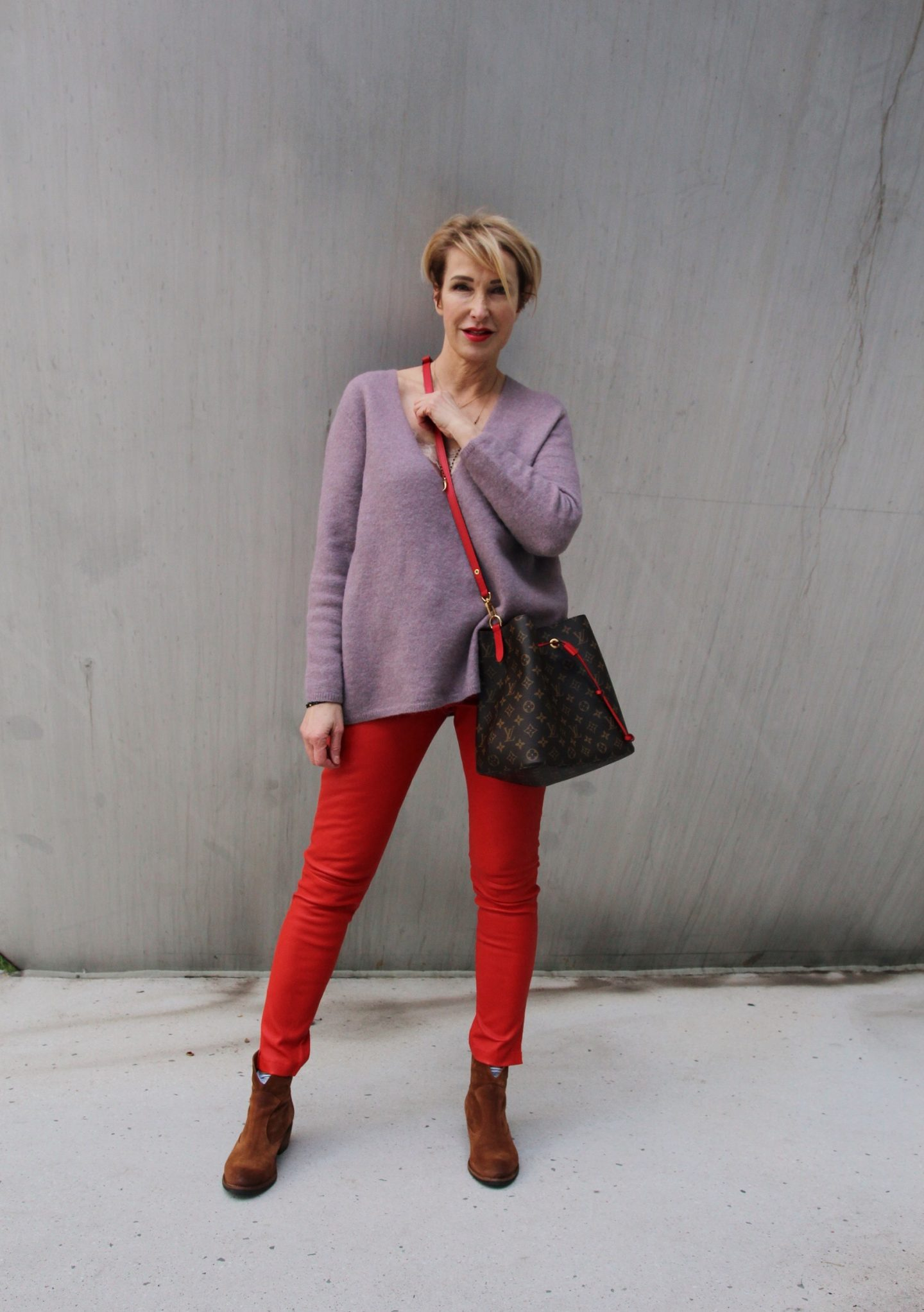 Winter-Outfit mit Lederlegging