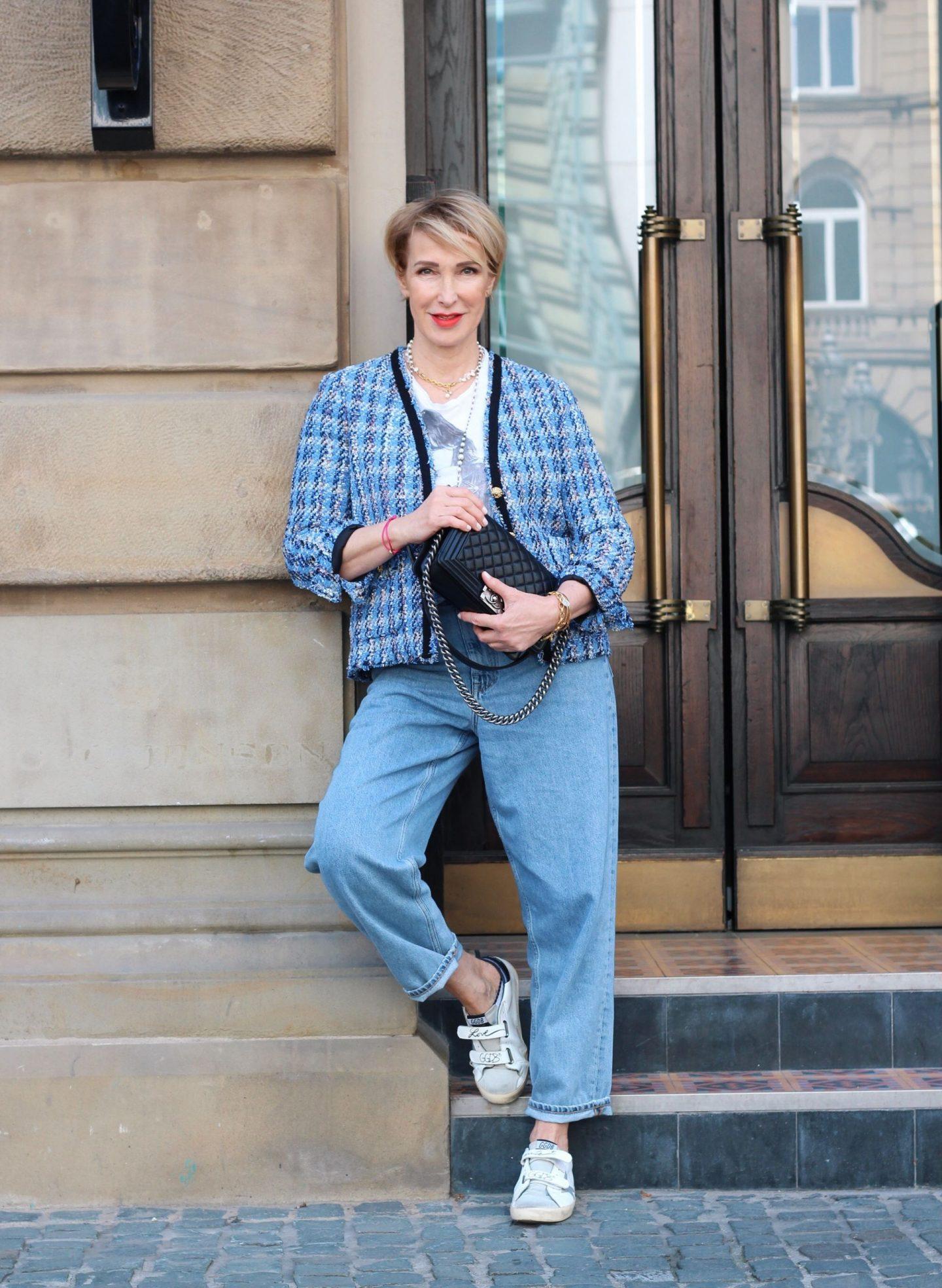 Wie style ich eine Tweed-Jacke als ü40 ü50 Frau?
